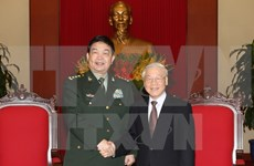 Party chief receives Chinese defence minister