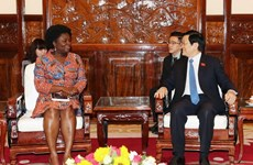 President receives WB Country Director