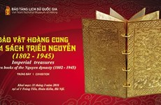 Nguyen Dynasty gold books on display