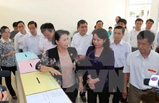 NA Chairwoman inspects election preparation in An Giang