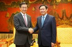 Deputy PM welcomes Shanghai party secretary