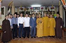 Deputy PM visits Vietnam Buddhist Sangha Supreme Patriarch