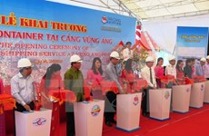 New container shipping route opens in Vung Ang port