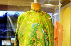 Old, rare ao dai collection displayed in Hue