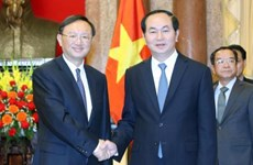 President welcomes Chinese State Councilor