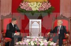 Party leader receives Slovak Prime Minister