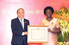Victoria Kwakwa awarded Friendship Order