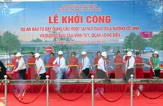 Construction begins on new overpass in Hanoi