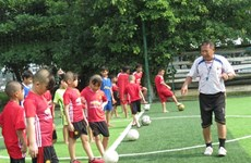Free football training for poor kids in HCM City