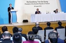 Vietnamese President addresses Singapore Lecture