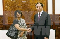 President Tran Dai Quang thanks out-going UN Resident Coordinator