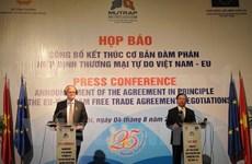 Vietnam, EU basically end negotiations on bilateral FTA