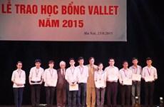 Students awarded Vallet scholarships
