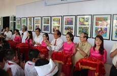 Binh Dinh opens children painting exhibition on transport culture