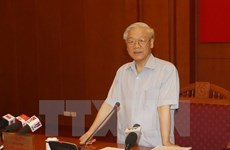 Party leader congratulates DPRK party on founding anniversary