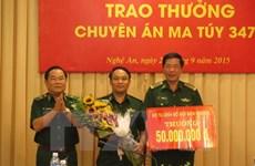 Nghe An border guards break up major drug trafficking ring
