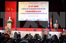 Vietnam-Cuba diplomatic ties celebrated in Hanoi