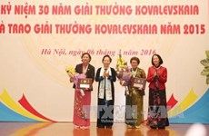 Ceremony marks 30 years of Kovalevskaia Prize in Vietnam