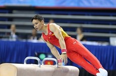 Young athletes vie at Southeast Asia's gymnastics champs
