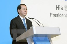 President Tran Dai Quang winds up tour of Brunei, Singapore