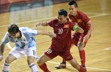 Argentina beat Vietnam in futsal match