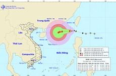 Typhoon Aere keeps gaining strength in East Sea