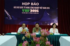 Latest industrial technologies on show at int'l fair in Hanoi
