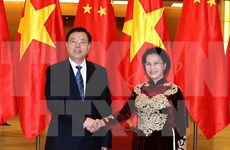 Chinese top legislator concludes official visit to Vietnam