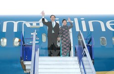 President arrives in Lima for APEC week