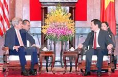 President welcomes US Secretary of State in Hanoi