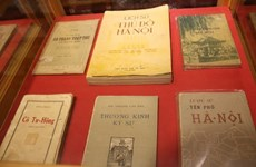 Precious books about Hanoi on display