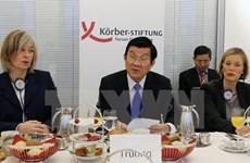 President talks peace, development at German Koerber Institute