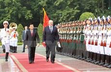 Vietnamese, Belarusian Presidents hold talks