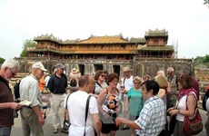 Foreign tourists flock to Hue for New Year