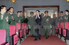 President visits Military Academy of Logistics