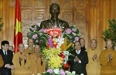 Deputy PM meets religious delegations ahead of Lunar New Year