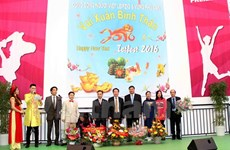 Vietnamese music show in German trade fair