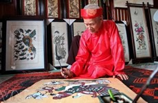 Dong Ho folk painting shines at Asia festival in New York