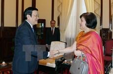 State leader bids farewell to Indian Ambassador