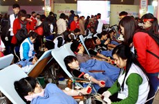 120,000 units of blood from donors expected in April
