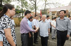 Leader inspects Party building work in Quang Ninh province