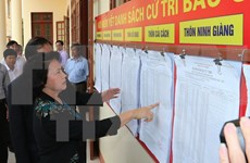 Top legislator inspects preparations for election in Hai Duong