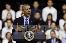 President Obama meets young people in HCM City