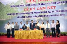 Quang Ninh, VCCI agree to develop enterprises by 2020