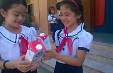 Nghe An children benefit from school milk programme