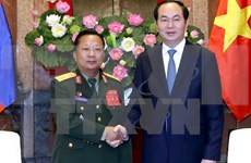 President urges Vietnamese, Lao armies to boost ties
