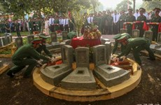 Volunteer soldiers' remains laid to rest in Tay Ninh province