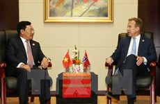 Deputy PM meets Norwegian, New Zealand, Canadian FMs