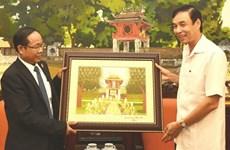 Hanoi leader receives Lao president of trade union federation