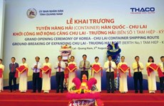 New international container shipping route opens in Quang Nam